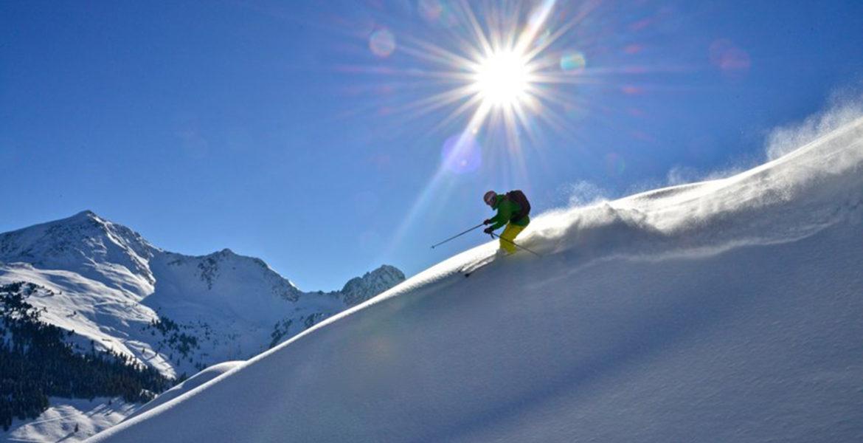 Winter Skifahrer Tirol